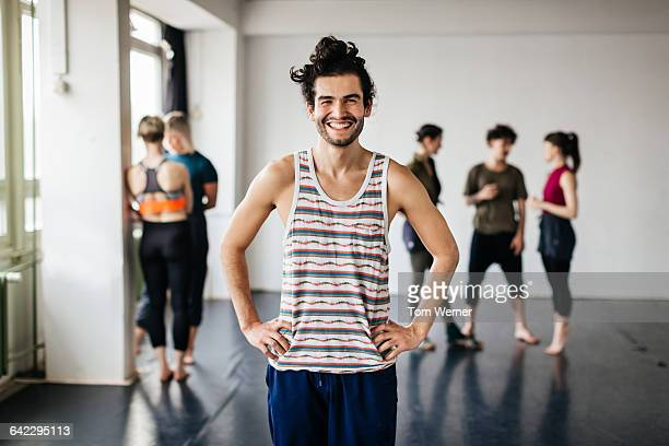 portrait of a young male dancer - tank top stock pictures, royalty-free photos & images