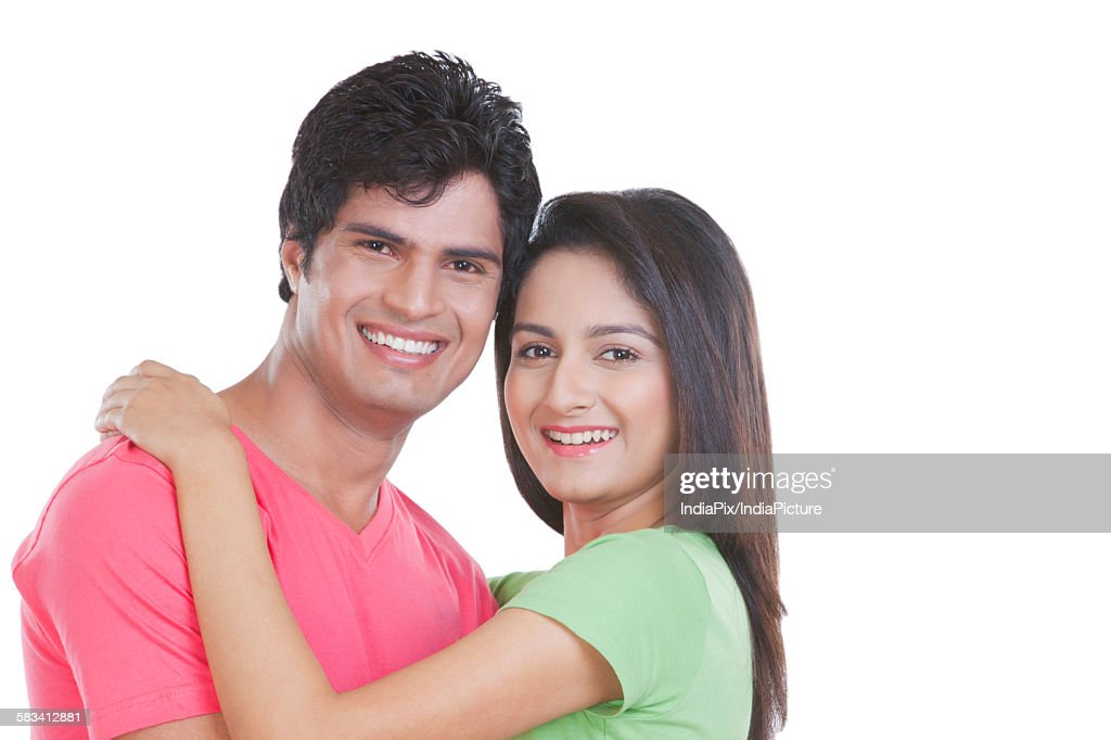 Portrait of a young man and woman : Stock Photo