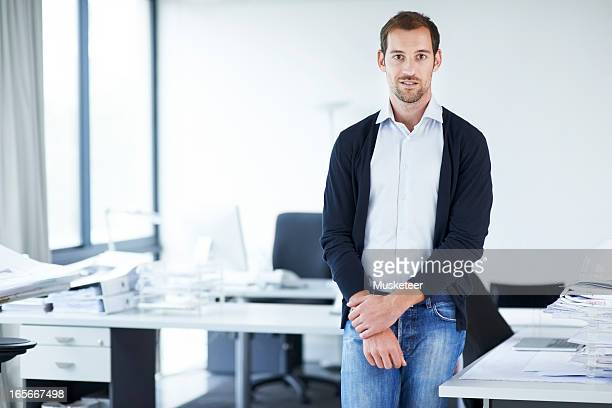 Portrait of a young man in his office