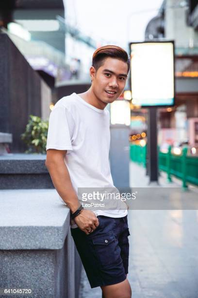 Portrait of a young man in Siam Square - Bangkok