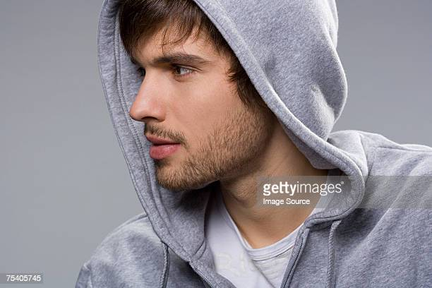 portrait of a young man - stubble stock pictures, royalty-free photos & images