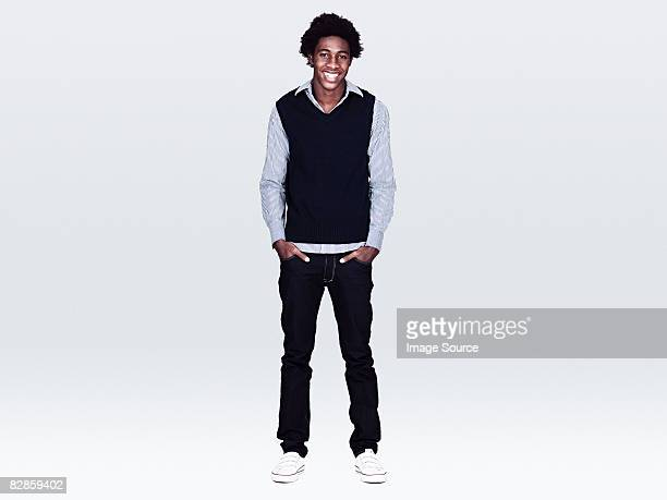 portrait of a young man - black trousers stock pictures, royalty-free photos & images