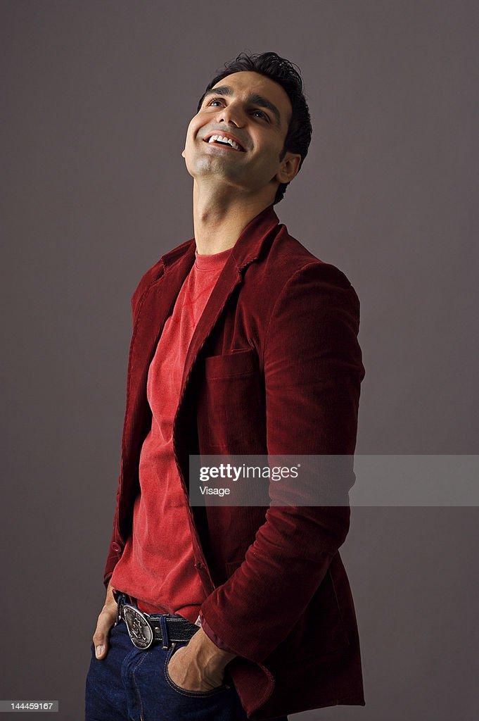 Portrait of a young man, Smiling : Bildbanksbilder