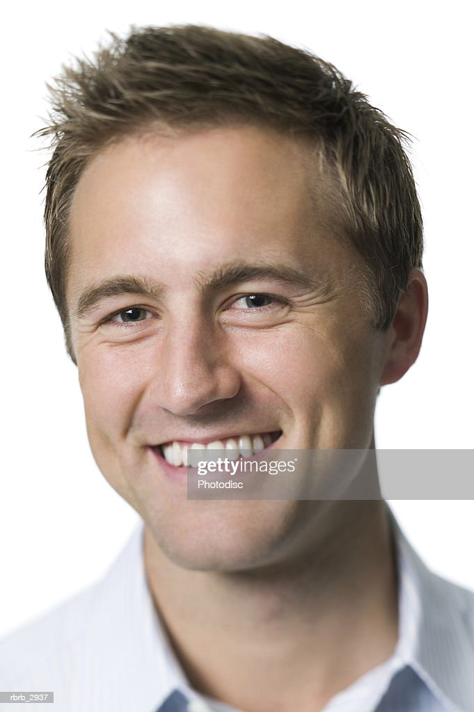 Portrait of a young man smiling : Foto de stock