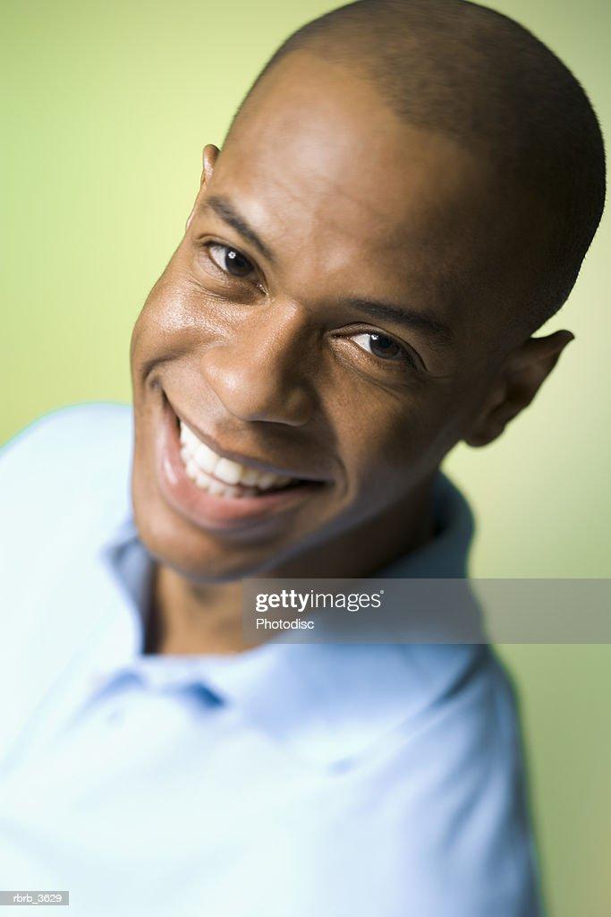 Portrait of a young man smiling : Foto de stock