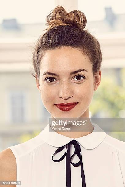 portrait of a young office worker - blouse stock pictures, royalty-free photos & images