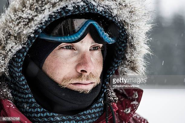 Portrait of a young snowboarder