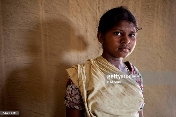 SRIMONGOL SYLHET DHAKA BANGLADESH Portrait of a young tea plucker Tea Plucking is a specialized skill Two leaves and a bud need to be plucked in...