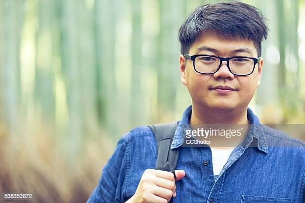 Porträt von einem Junge Studentin