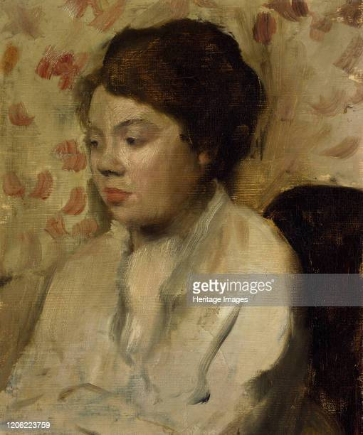 Portrait of a Young Woman, circa 1885. Artist Edgar Degas.