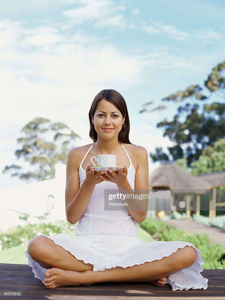Image result for yoga and tea drinking getty images