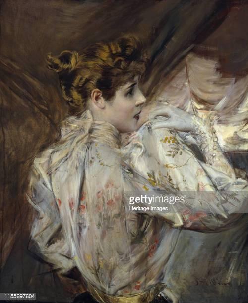 Portrait of a Young Woman in Profile circa 1895 Private Collection Artist Boldini Giovanni