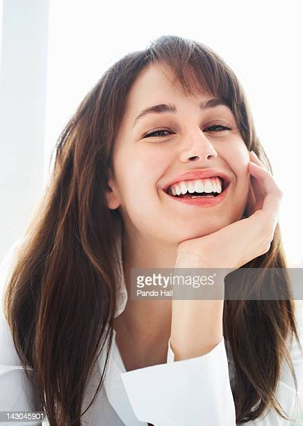 Portrait of a young woman laughing