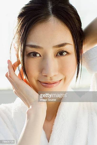 portrait of a young woman - beautiful japanese women stock pictures, royalty-free photos & images