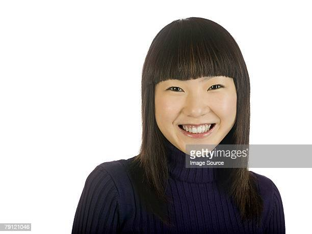 portrait of a young woman - high collar stock pictures, royalty-free photos & images