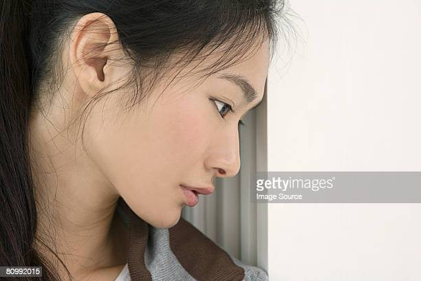 portrait of a young woman - mongolian women stock photos and pictures