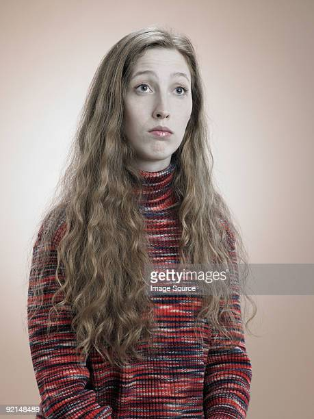 portrait of a young woman - nerd stock pictures, royalty-free photos & images