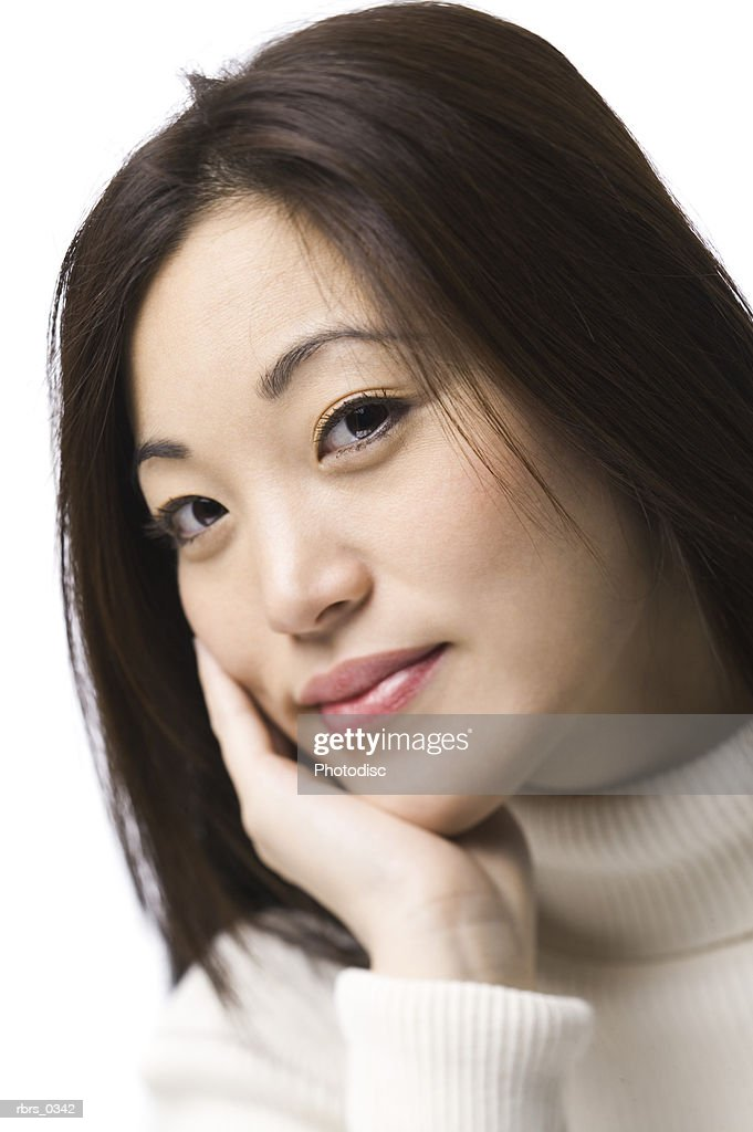 Portrait of a young woman : Foto de stock
