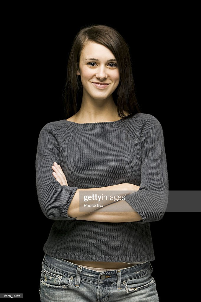 Portrait of a young woman smiling : Stockfoto