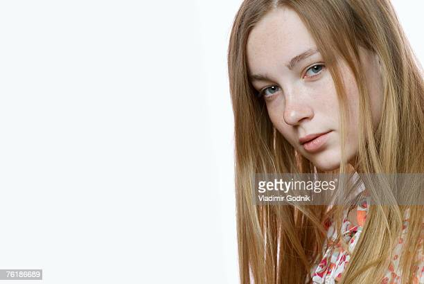 portrait of a young woman staring - desire stock pictures, royalty-free photos & images
