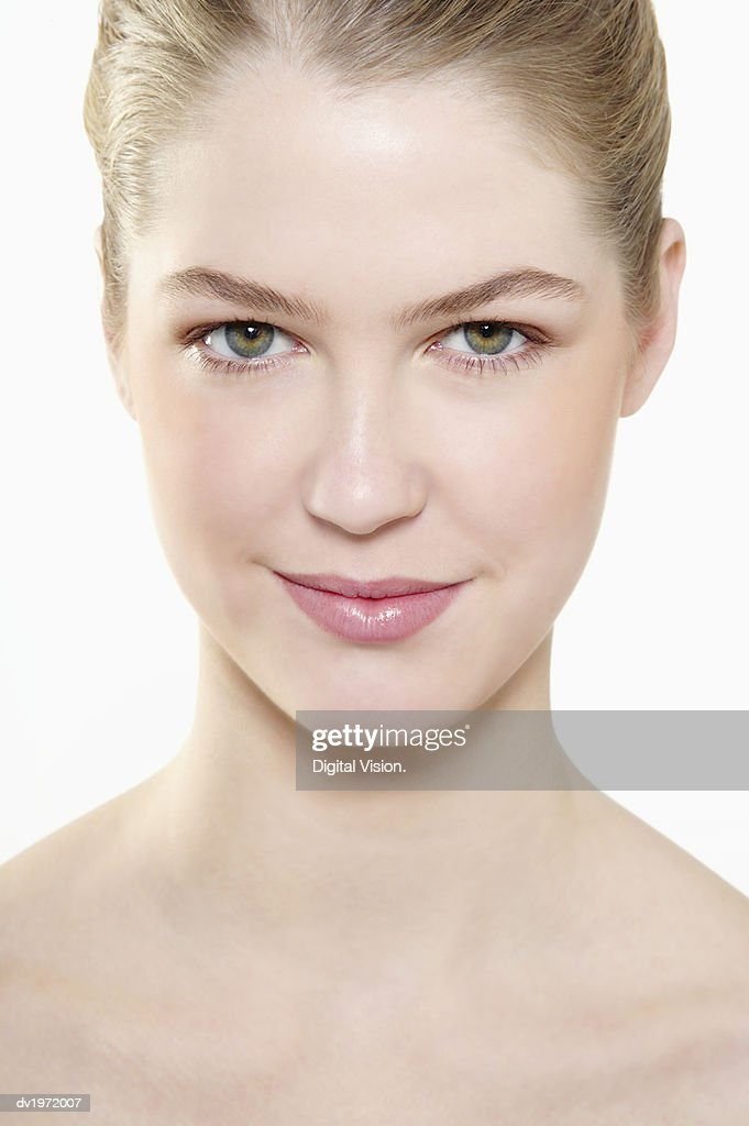 Portrait of a Young Woman with Blond Hair : Stock Photo