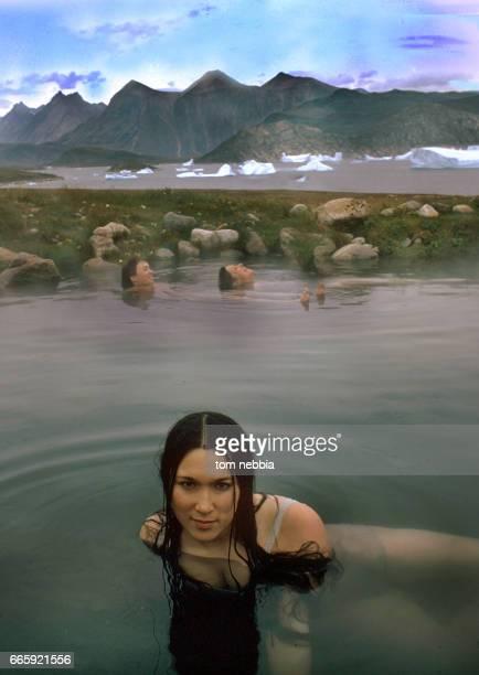 Women hot greenland Geothermal Pools