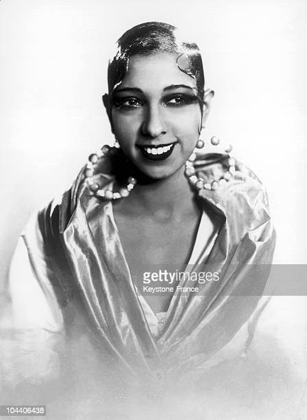 A portrait of a yourng Josephine BAKER in a Paris studio at the start of her career
