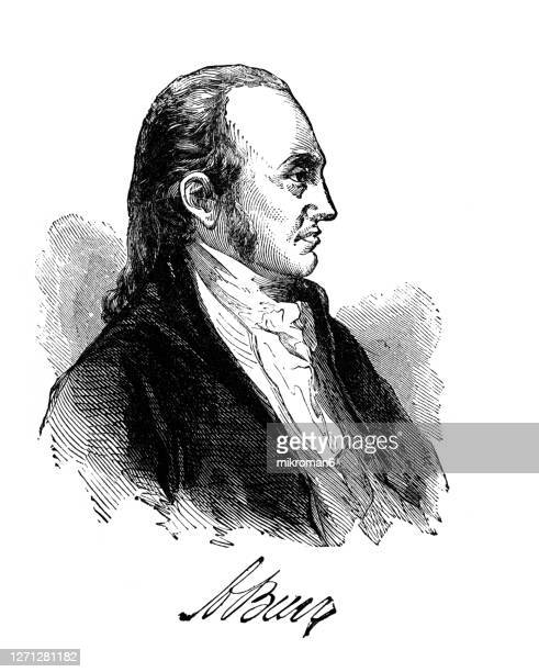 portrait of aaron burr jr. (february 6, 1756 – september 14, 1836) - american civil war stock pictures, royalty-free photos & images