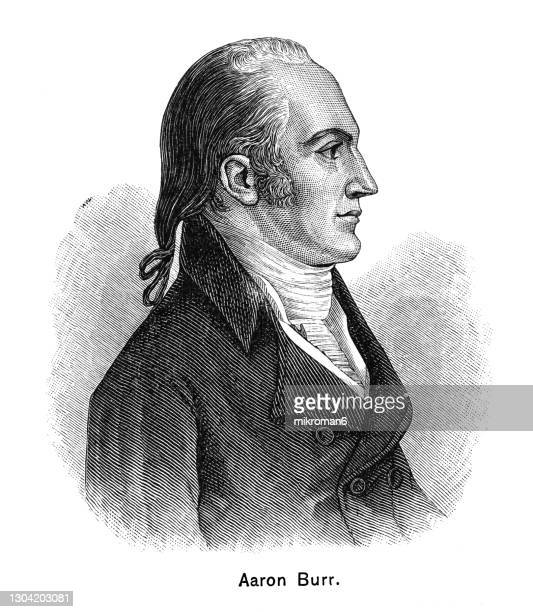 portrait of aaron burr jr. (february 6, 1756 – september 14, 1836) - united states presidential election stock pictures, royalty-free photos & images