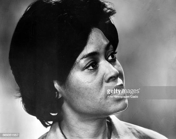 Portrait of Abbey Lincoln actress and star of the television series Wine in the Wilderness Richmond Virginia 1970