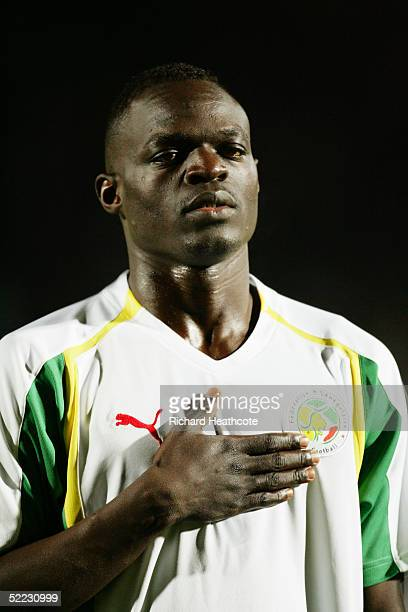 A portrait of Abdoulaye Diagne Faye of Senegal prior to the international friendly match between Cameroon and Senegal held at Stade Dominique...
