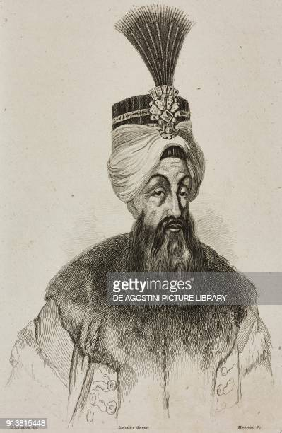 Portrait of Abdul Hamid I Sultan of the Ottoman Empire engraving by Lemaitre Lalaisse and Monnin from Turquie by Joseph Marie Jouannin and Jules Van...