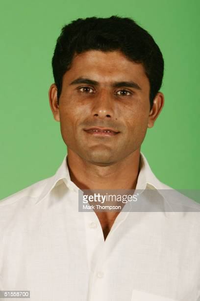 A portrait of Abdul Razzaq of Pakistan taken during an ICC photocall at the Victoria Park Plaza on September 5 2004 in London