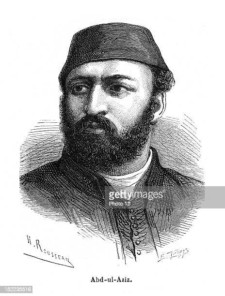 Portrait of Abdulaziz who was the 32nd sultan of the ottoman Empire