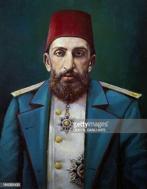 Portrait of AbdulHamid II known as The Crimson Sultan Sultan of the Ottoman Empire Istanbul Topkapi Sarayi Muzesi