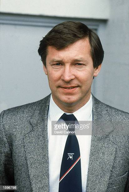 Portrait of Aberdeen manager Alex Ferguson during a Scottish Premier Division match held in 1983 at Pittodrie Stadium, in Aberdeen, Scotland.