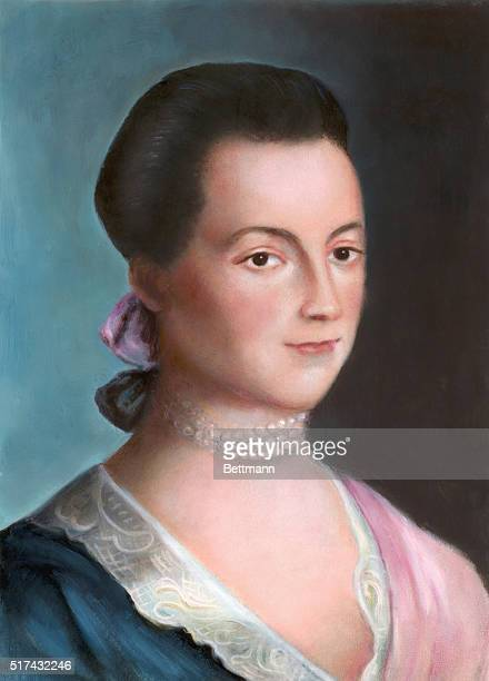 Portrait of Abigail Adams wife of President John Adams and mother of John Quincy Adams After a painting by Benjamin Blythe