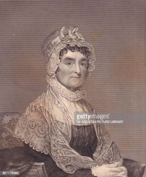 Portrait of Abigail Adams wife of US President John Adams engraving by G Stuart and F E Jones 1870