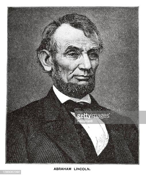 portrait of abraham lincoln, the 16th president of the united states. - us president stock pictures, royalty-free photos & images