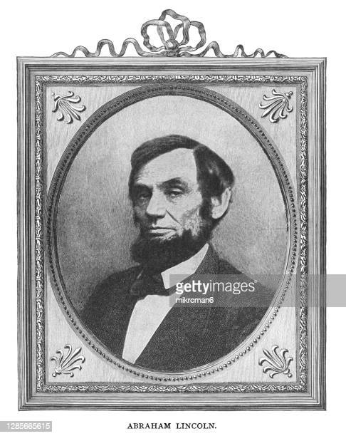 portrait of abraham lincoln, the 16th president of the united states. - united states presidential election stock pictures, royalty-free photos & images