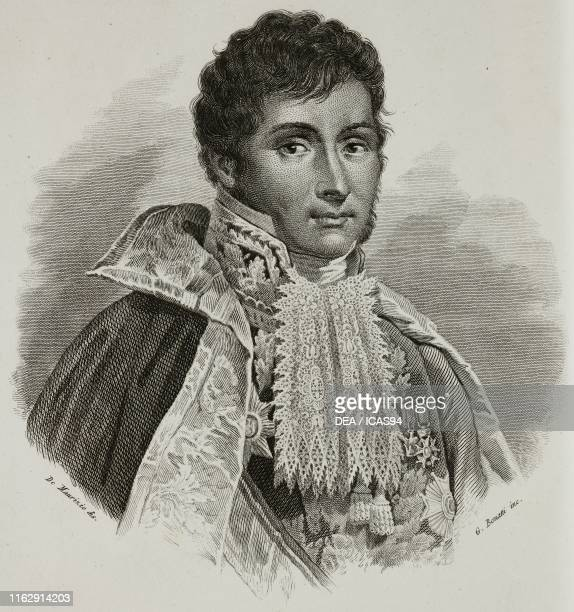 Portrait of Achille Fontanelli Italian general engraving by Bonatti after a drawing by De Maurizio from Vite dei primarj marescialli e generali che...