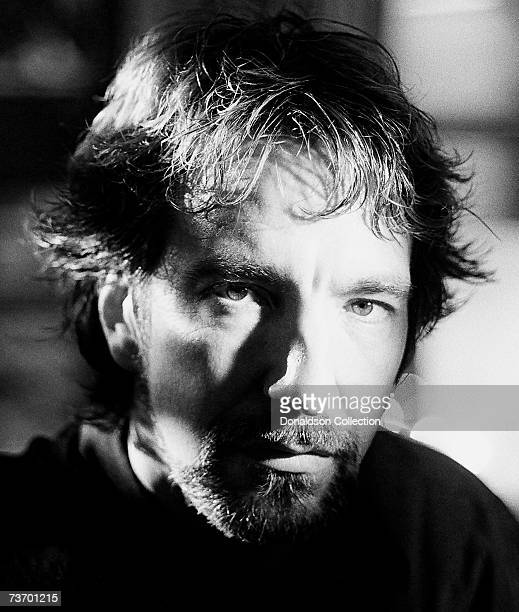 Portrait of actor Alan Rickman as he poses in his hotel room in New York City in 1984.