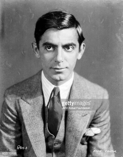 Portrait of actor and comedian Eddie Cantor wearing a suit and tie with Samuel Goldwyn Co 1932