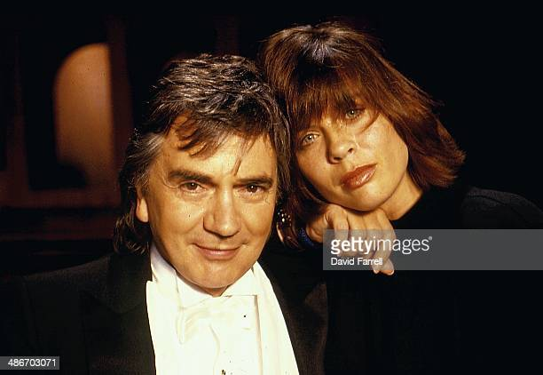 Portrait of actor and musician Dudley Moore and third wide Brogan Lane circa 19881991