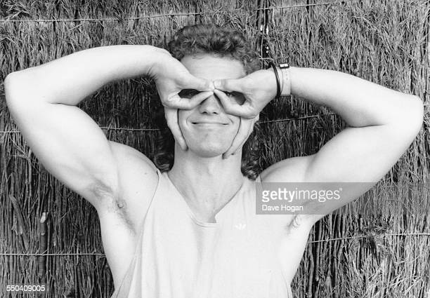 Portrait of actor and singer Craig Mclachlan joking around November 29th 1988