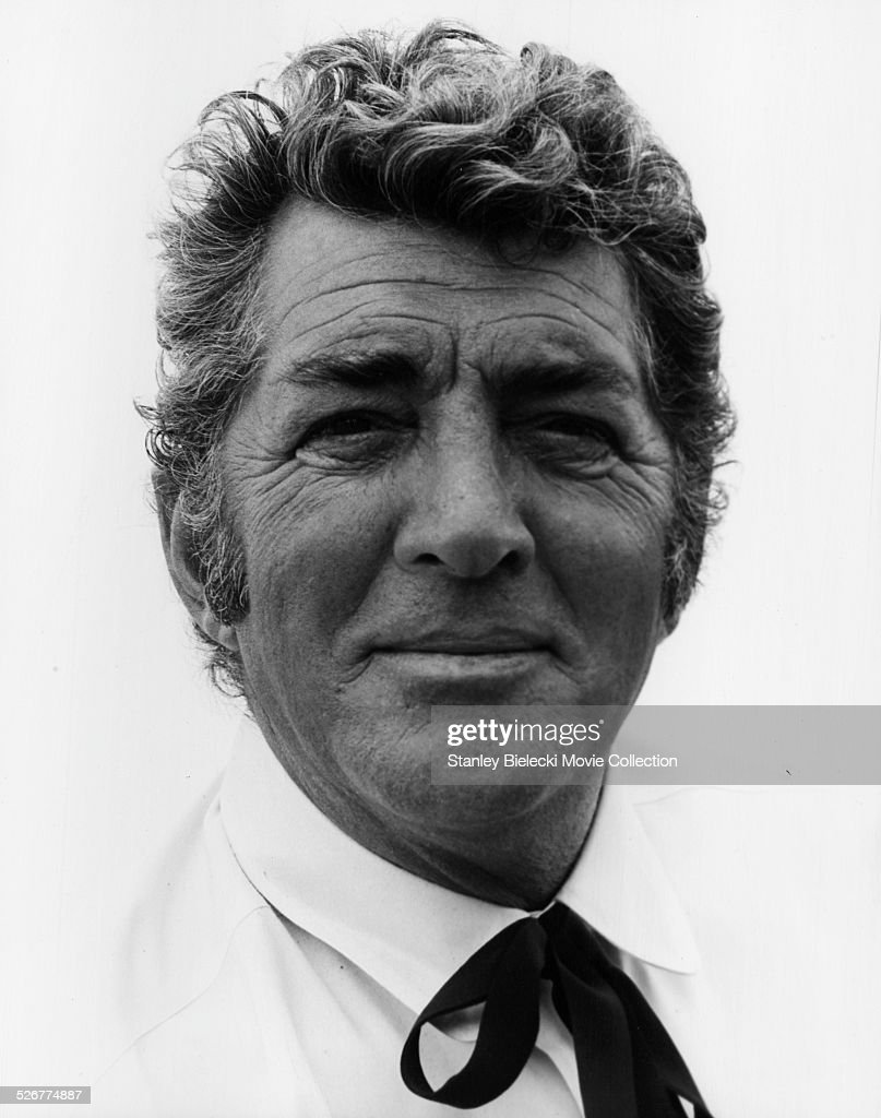 Portrait of actor and singer Dean Martin, on the set of the movie 'Something Big', 1971.