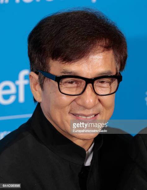 Portrait of actor and UNICEF Goodwill Ambassador Jackie Chan at UNICEF 70th Anniversary Celebrations at the United Nations Headquarters in New York...