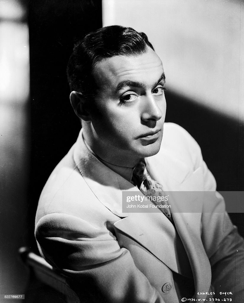 Portrait of actor Charles Boyer (1899-1978), for Columbia Pictures, 1938.