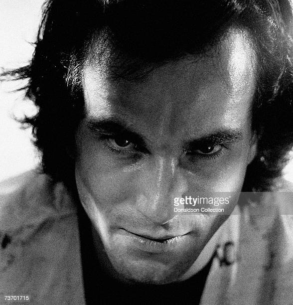 Portrait of actor Daniel Day-Lewis as he poses for a photo shoot in 1987 in his hotel room in New York City.