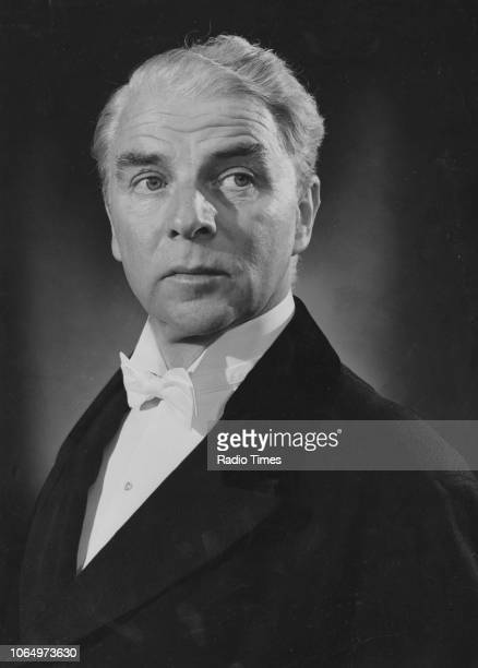 Portrait of actor Emlyn Williams photographed for Radio Times in connection with the BBC Sunday Night Play episode 'The Winslow Boy' August 1961...